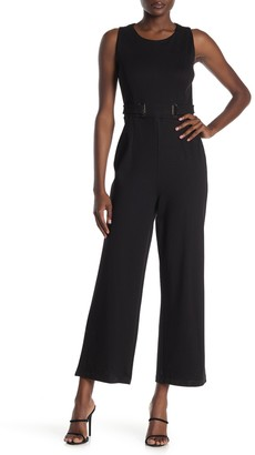 T Tahari Sleeveless Crew Neck Jumpsuit