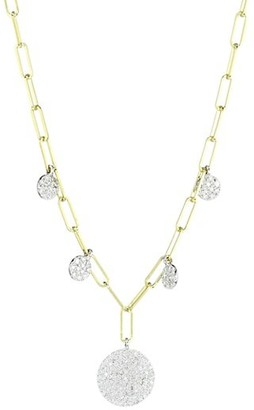 Meira T 14K Yellow Gold & Diamond Disc Oval-Link Necklace