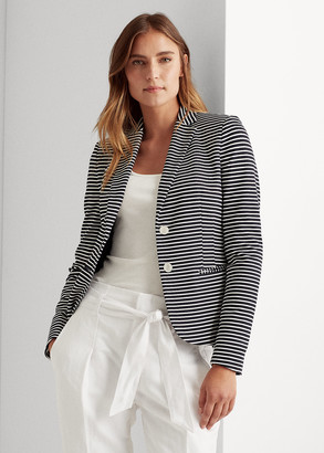 Ralph Lauren Striped Ponte Blazer