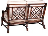 The Well Appointed House Mosaic Loveseat with Rattan Frame- Variety of Finishes Available