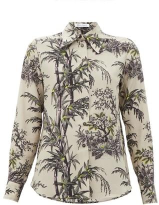 Bella Freud Little Prince Chinoiserie-print Silk Shirt - Gold