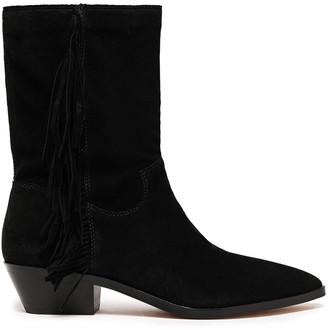 Rebecca Minkoff Krissa Fringe-trimmed Suede Ankle Boots