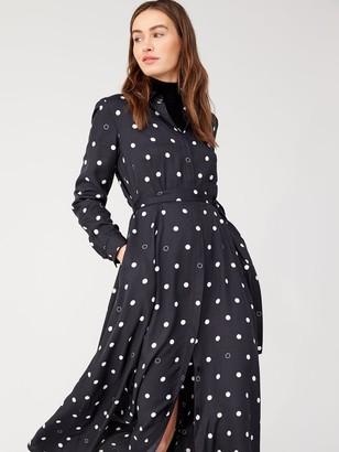 BOSS Casual Long Shirt Dress - Polka Dot