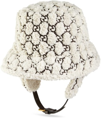 Gucci Curly GG eco fur hat with ear flaps