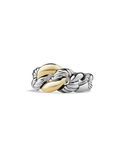 David Yurman Belmont Curb Link Ring with 18k Gold