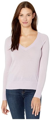 Pendleton Merino V-Neck Pullover (Lavender Frost) Women's Sweater