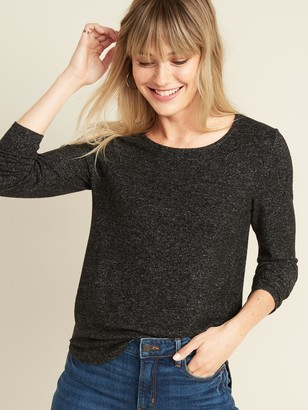 Old Navy Plush-Knit Crew-Neck Tee for Women