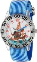 Disney Boy's 'Moana' Quartz Plastic and Nylon Casual Watch, Color: (Model: WDS000038)