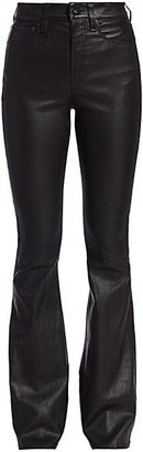 Rag & Bone Jane Super High-Rise Leather Flare Jeans