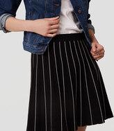 LOFT Petite Striped Sweater Skirt