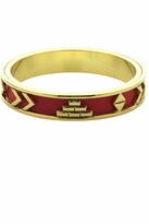 House of Harlow 1960 Aztec Bangle with Red Leather