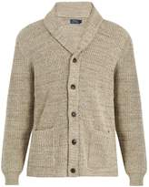 Polo Ralph Lauren Shawl-collar ribbed-knit cotton cardigan