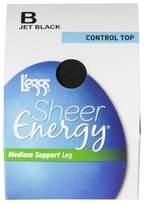 L'eggs® Women's Sheer Energy Control Top Pantyhose - 65400 - Jet Black XL