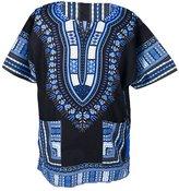 Lofbaz Traditional African Print Unisex Dashiki Ethnic Size S Purple