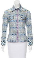 Paco Rabanne Embellished Collared Top