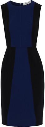 Diane von Furstenberg Calliope Two-tone Cady Dress