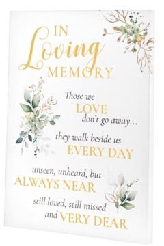 Lillian Rose Botanical Theme Wedding Memorial Canvas Sign