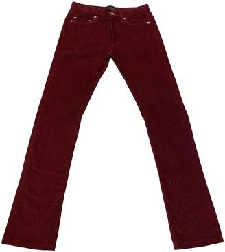 A.P.C. Purple Velvet Trousers