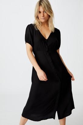 Cotton On Woven Clara Button Through Midi Dress