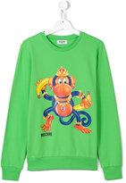 Moschino Kids - monkey print sweatshirt - kids - Cotton/Spandex/Elastane - 14 yrs