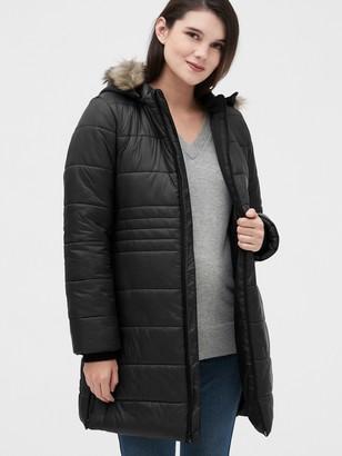 Gap Maternity ColdControl Puffer Coat with Detachable Hood