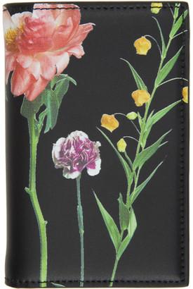 Valentino Black Garavani Floral Bifold Card Holder