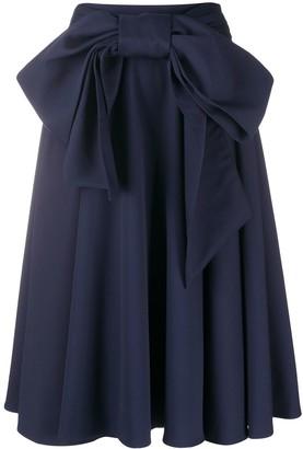 Charles Jeffrey Loverboy Bow Tie-Waist Skirt