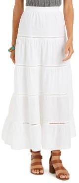 Style&Co. Style & Co Tiered Cotton Maxi Skirt, Created for Macy's