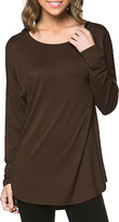 Brown Scoop Neck Tunic - Women