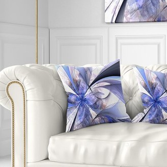 """East Urban Home Floral Fractal Flower Design Pillow Size: 16"""" x 16"""", Product Type: Throw Pillow"""