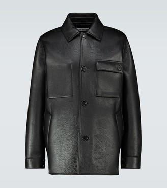 Acne Studios Lopris Bond leather shirt jacket