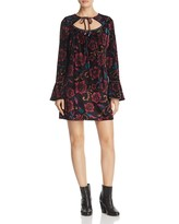 Band of Gypsies Floral Tie-Neck Dress