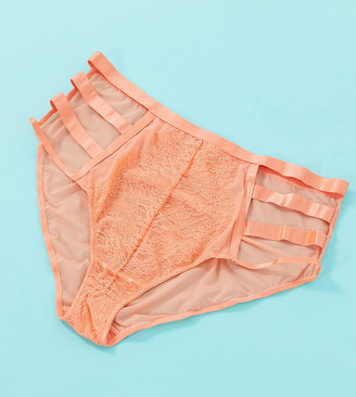 Playful Promises X Gabi Fresh Exclusive lace cut-out high waist brief in melon