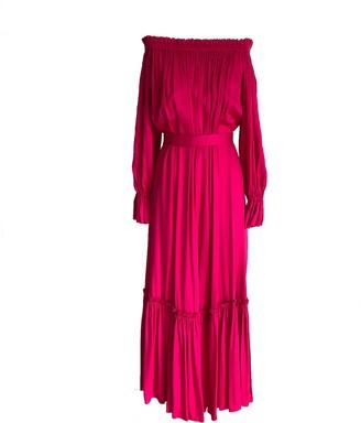 Onelady Off Shoulder Long Dress Pink Tais