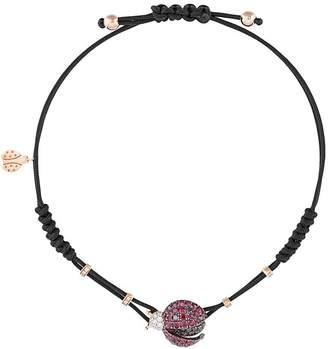 Pippo Perez 18kt rose gold ladybird diamond and ruby bracelet