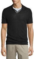 Vince Wool-Blend Short-Sleeve Polo Shirt