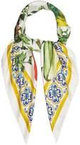 Dolce & Gabbana Vegetable-print silk scarf