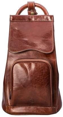 Maxwell Scott Bags Maxwell Scott Womens Premium Leather Backpack - Carli Tan