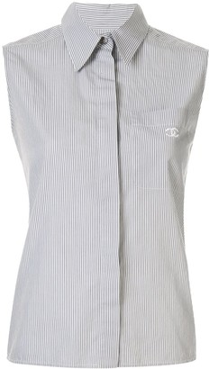 Chanel Pre Owned 1999 Striped Sleeveless Shirt