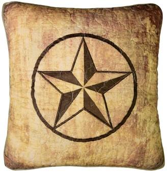 Donna Sharp Wood Patch Star Decorative Pillow