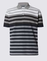 Marks and Spencer Tailored Fit Pure Cotton Striped Polo Shirt