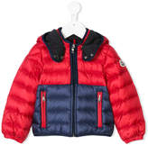 Moncler color block puffer jacket