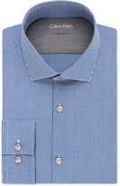 Calvin Klein Men's X Tall Extra-Slim Fit Stretch Blue Check Dress Shirt