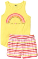 Crazy 8 Rainbow 2-Piece Shortie Pajama Set