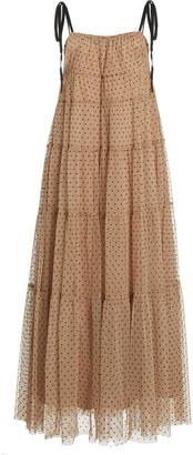 STAUD Lilia Dot Tulle Maxi Dress