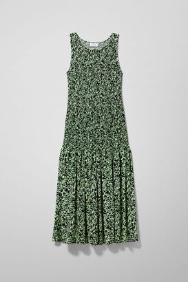Weekday Josephine Dress - Green