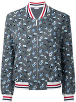 Thom Browne embroidered flower bomber jacket - women - Wool - 40