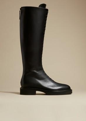 KHAITE The York Boot in Black Leather