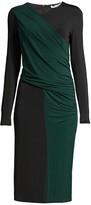 BOSS Eretha Viscose Stretch Jersey Colorblock Sheath Dress