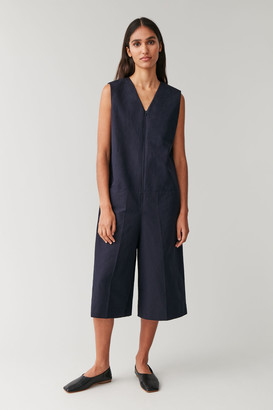Cos Sleeveless Cotton-Linen Jumpsuit